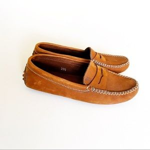 Tods Gommino Driving Loafers Flats Brown Leather